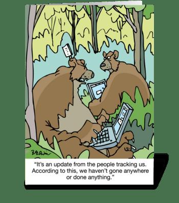 Vitual Bear Hug On Father's Day greeting card