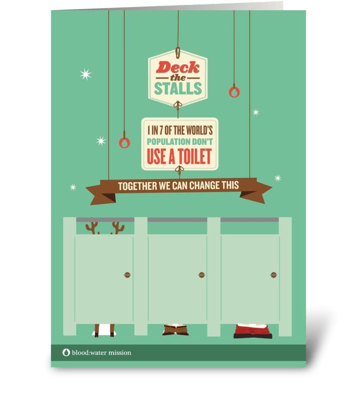 Deck the Stalls - Together We Can  greeting card