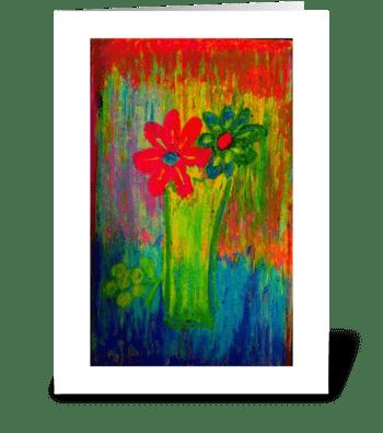 Tuscany Wildflowers greeting card