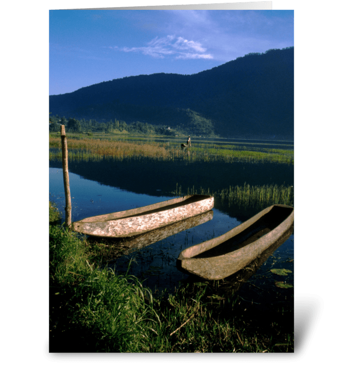 Bali Boats greeting card