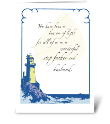 Father's Day for Husband and Step Father greeting card