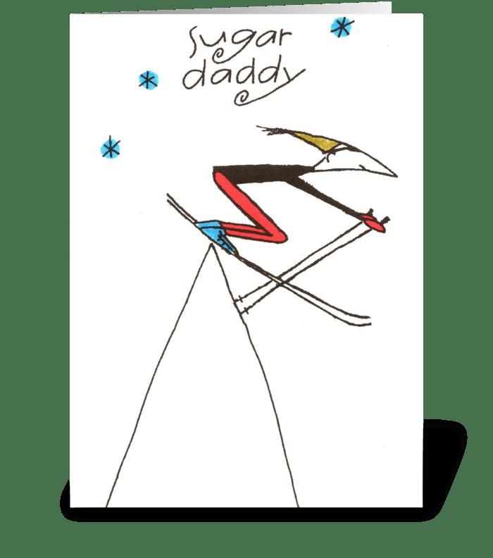 sugar daddy greeting card