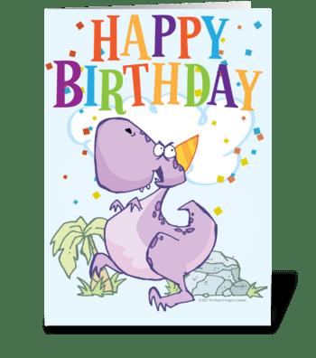Dino Birthday greeting card