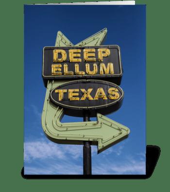 Deep Ellum, Texas Neon Sign greeting card