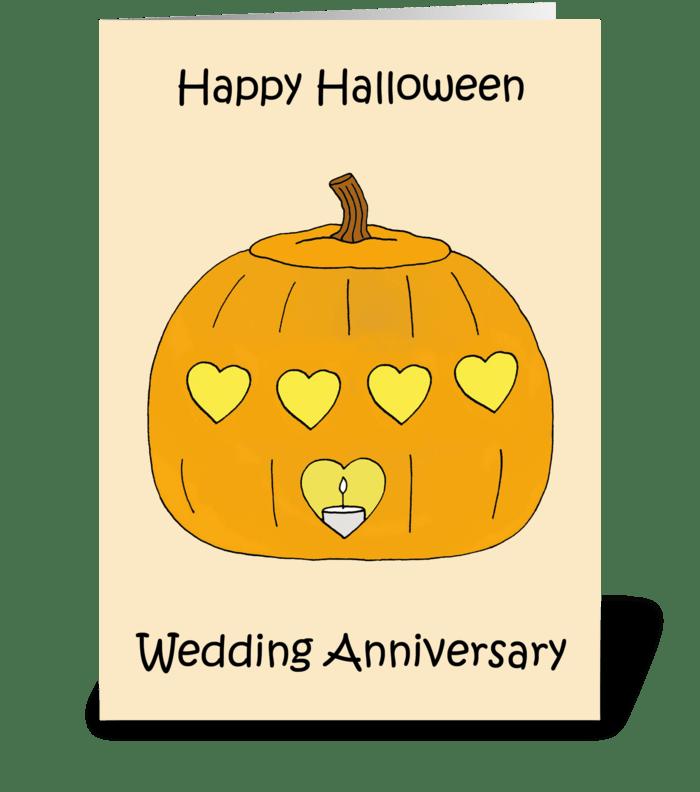 Happy Halloween Wedding Anniversary greeting card