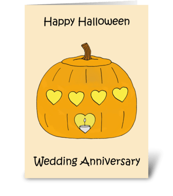 Happy Halloween Wedding Anniversary greeting card