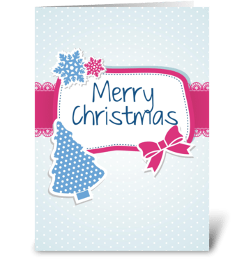 Blue Christmas card greeting card