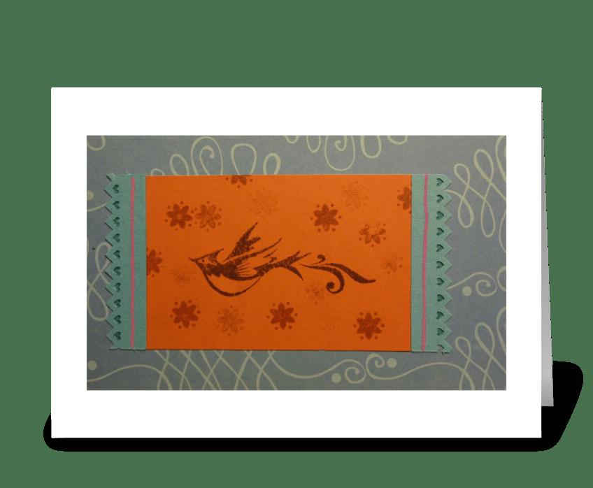 Fly Bird, Fly greeting card