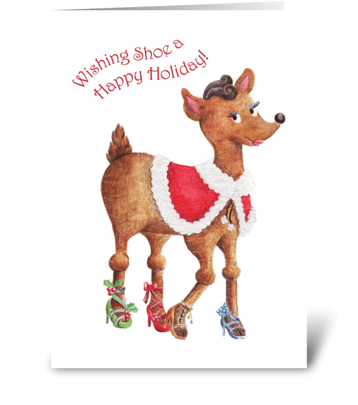 Wishing Shoe a Happy Holiday greeting card