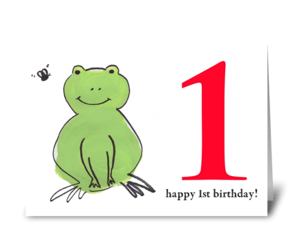 Frog Happy First Birthday  greeting card