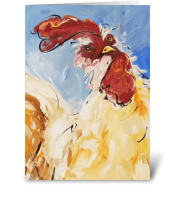 Coop Caper greeting card