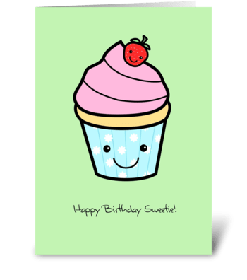 Strawberry Cupcake greeting card