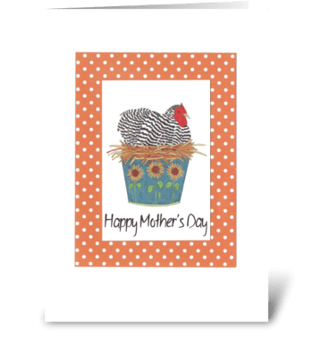 Mother's Day Hen greeting card