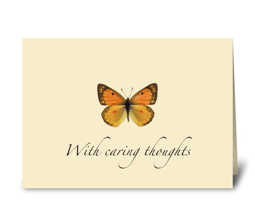 Thinking of you Butterfly greeting card