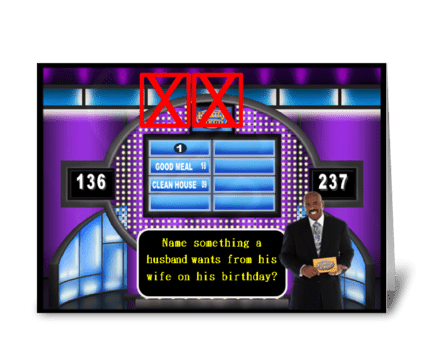 FAMILY FEUD BIRTHDAY CARD greeting card