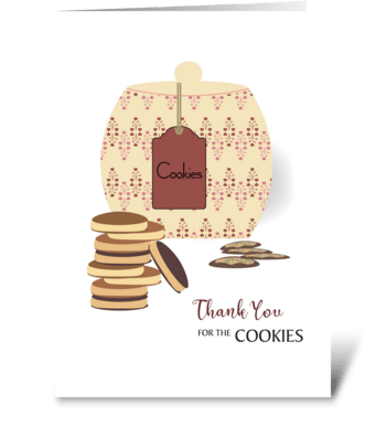 Cookie Jar and Cookies Thank You  greeting card
