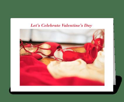 Let's Celebrate Valentine's Day greeting card