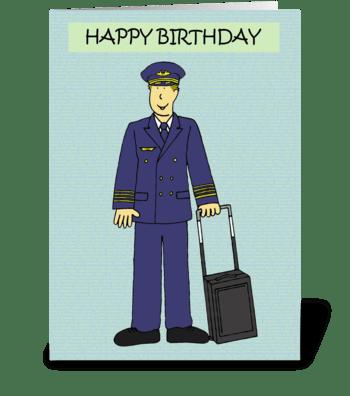 Happy Birthday Pilot greeting card