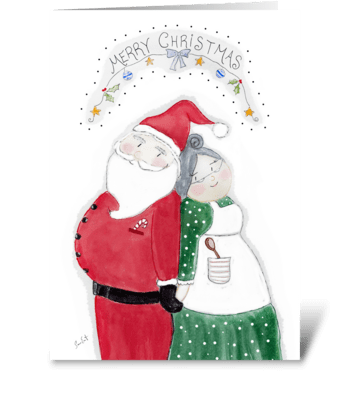Merry Christmas From, Mr. & Mrs. Claus greeting card