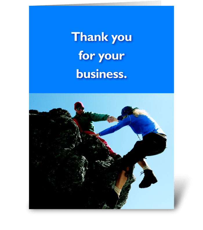 Thank You for your Business greeting card