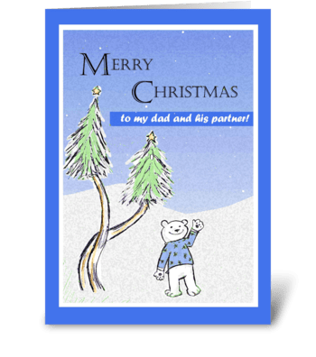 Merry Christmas - Dad and His Partner greeting card