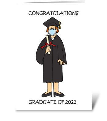 Congratulations Graduate of 2021 for Her greeting card