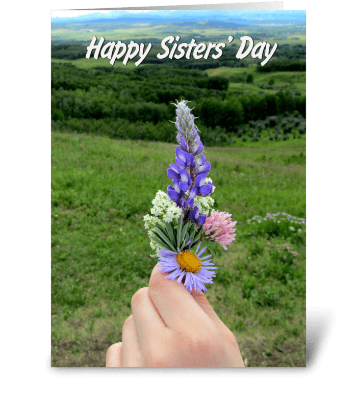 Wildflowers for Sister greeting card