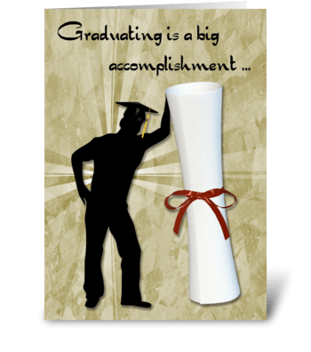 Graduate Male, Diploma, Congratulations greeting card