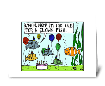 Clown Fish greeting card