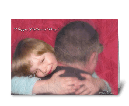 Happy Father's Day with a hug greeting card