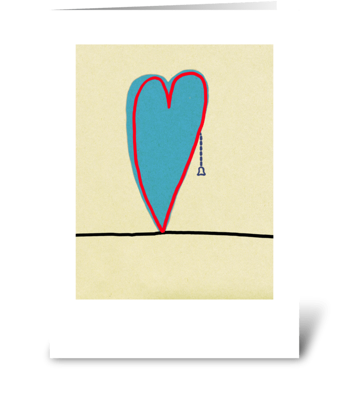 Pull Cord Heart greeting card