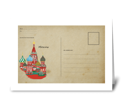Russian Letter (  the Red Square)  greeting card