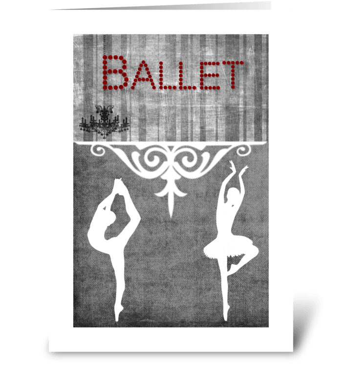 Ballet Series 1 greeting card