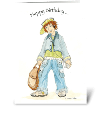 Birthday Teenager greeting card