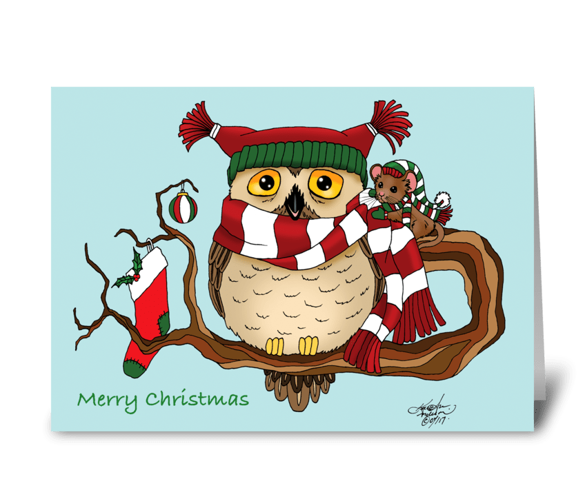 Christmas Warmth greeting card