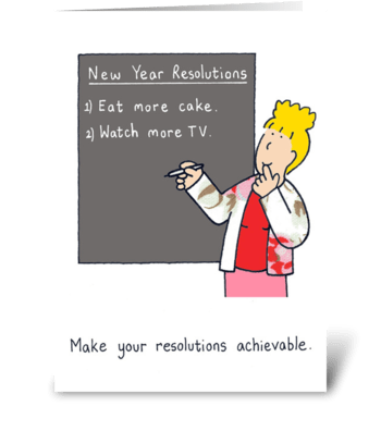 New Year Resolutions greeting card