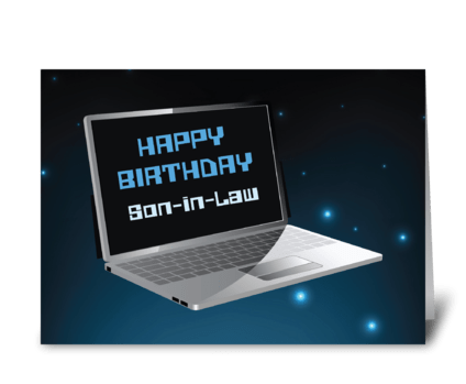 Son-in-Law Birthday Computer greeting card