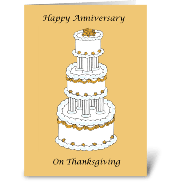 Thanksgiving Anniversary Congratulations greeting card