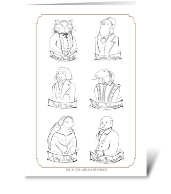 The Author Animalia Collection: Group greeting card
