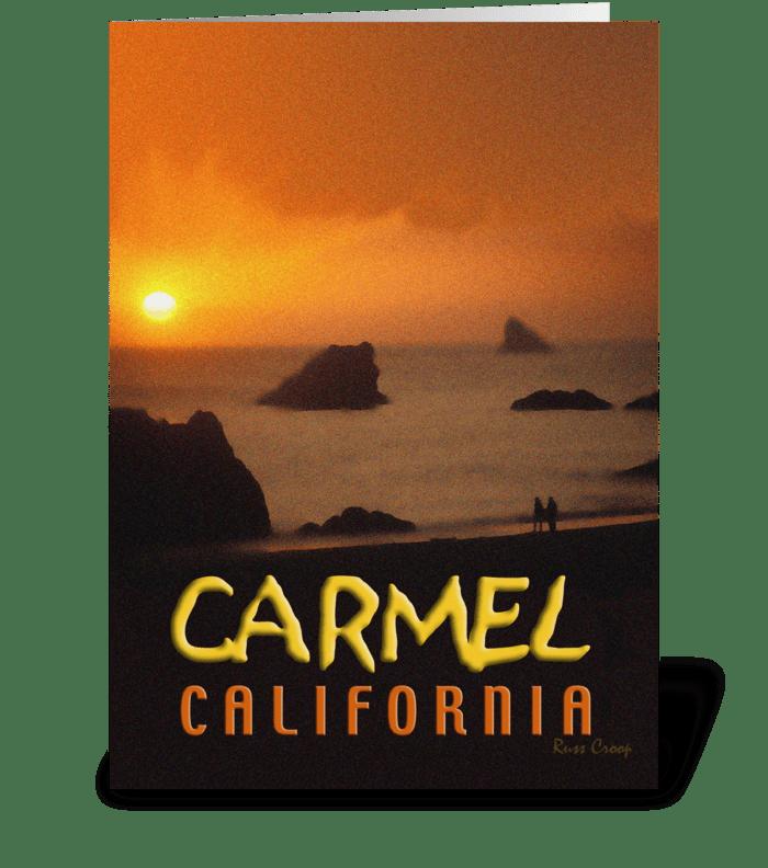 Carmel, California Travel Poster greeting card