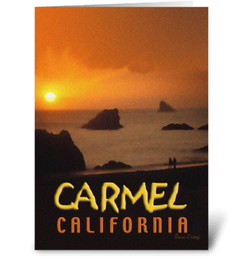 Carmel, California Travel Poster greeting card