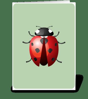 Lady Bug greeting card