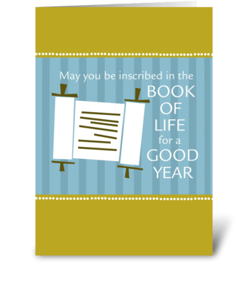 Rosh Hashanah - Book of Life greeting card