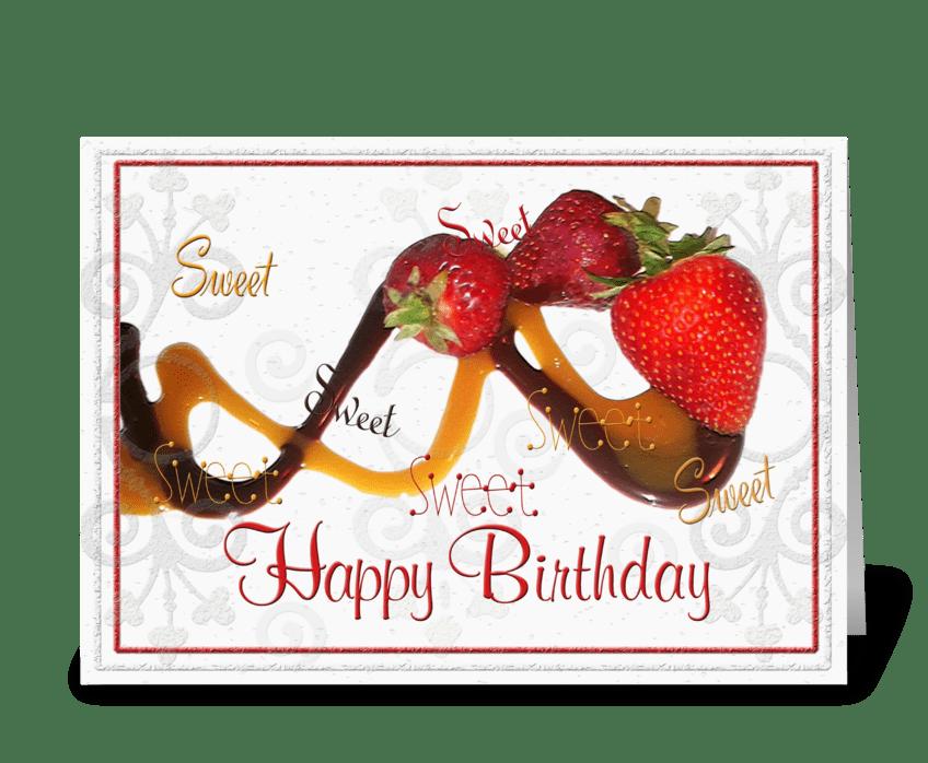 Sweet & Yummy Birthday Greetings greeting card
