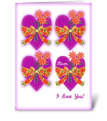 Valentine's Day Hearts for Mom greeting card