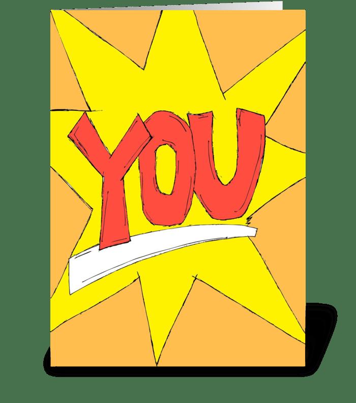 YOU greeting card