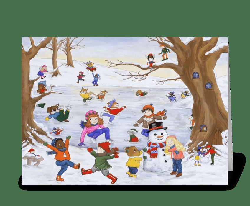 Winter Day Magic greeting card