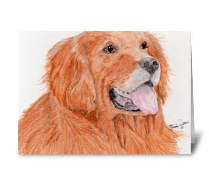 Gone to the dogs greeting card