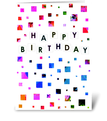Bright Squares Birthday Card greeting card
