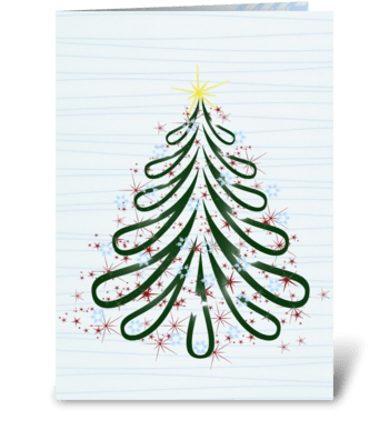 Winter Christmas Tree greeting card